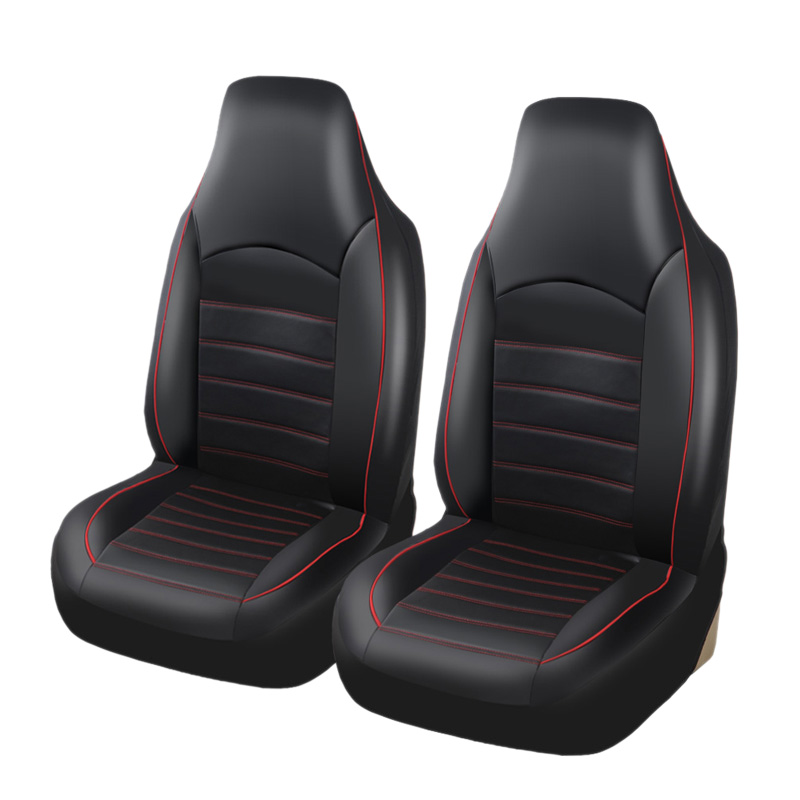 Car Universal Front Seat Cover Fashion Style Leather Seat Interior Seat Cover title=