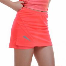 Womens Fitness Vakantie Anti Blootstelling Jogging Knop Crop Tops Sport Gym Rok comfortabele(China)