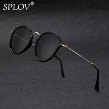 Nova Chegada das mulheres Dos Homens revestimento de óculos de Sol Redondos  Retro espelhado óculos óculos de Marca Designer De Ó.. e726d868a5
