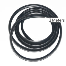 2m Car Ageing Rubber Seal Strips Under Front Windshield Panel Sealed Trim Moulding Strip Auto Accessories(China)