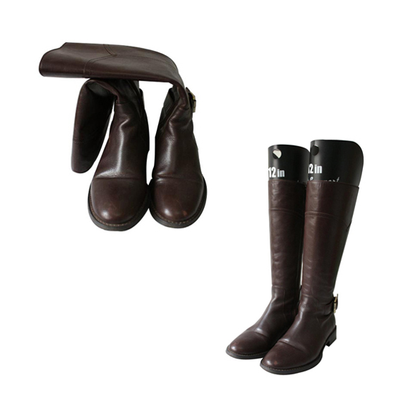 1 Pair Automatic Boot Shaper Tree Plastic Black Boot Shaper Stands Holder Metal Knee High Tall Boots Shoes Support with Handle for Lady Women