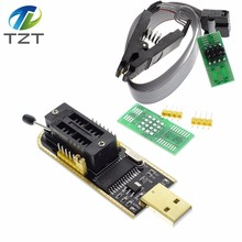 TZT CH341A 24 25 серии EEPROM Flash BIOS USB программатор модуль + SOIC8 SOP8 Тесты зажим для EEPROM 93CXX/25CXX/24CXX(China)