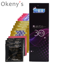Buy MINGLIU Condoms 30pcs 5 Styles Penis Sleeve G Spot Condoms Ultra Thin Condoms Men Silicon Condones Camisinha Sex Toys
