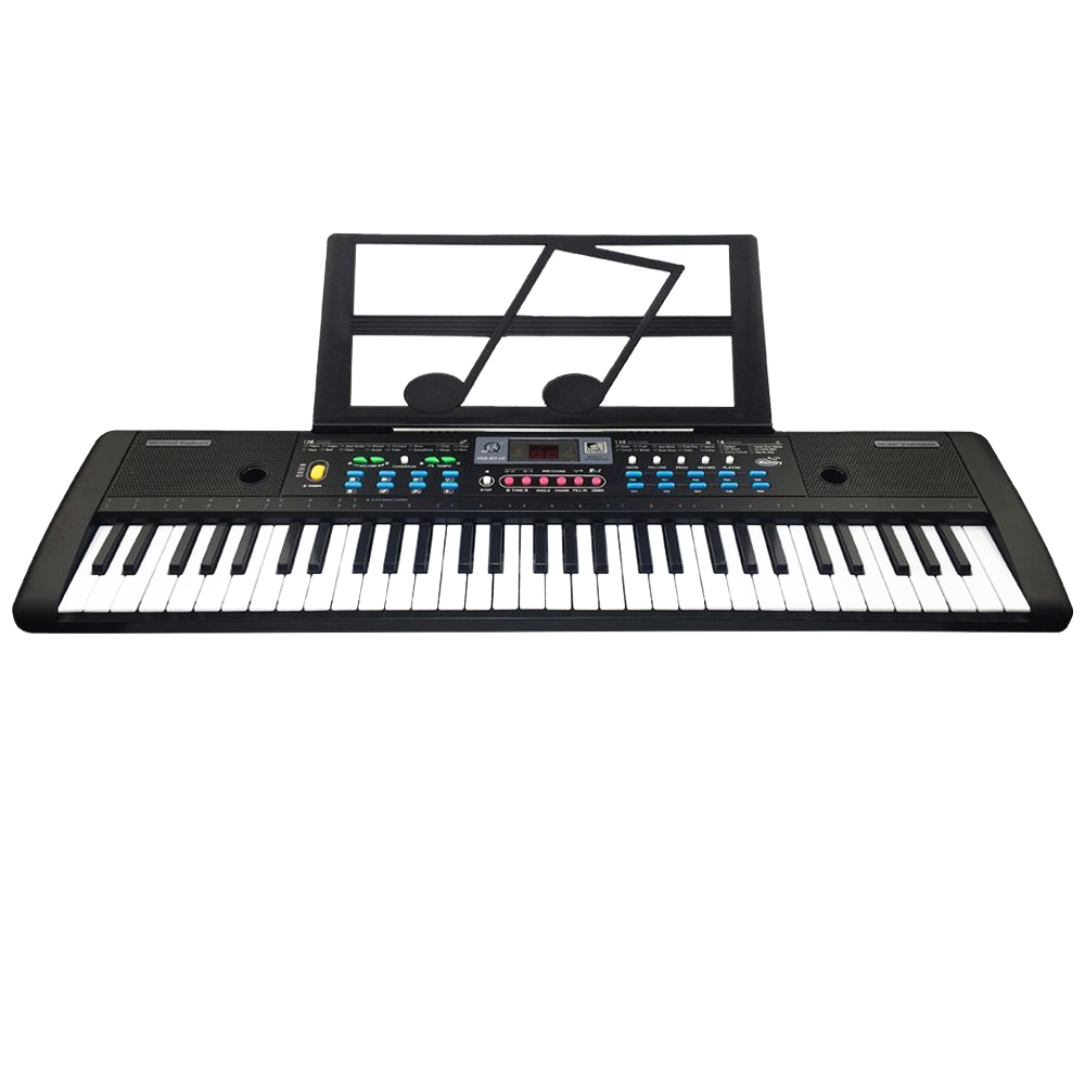 HOT-61 Keys Digital Electronic Keyboard And Microphone Electric Led Music title=