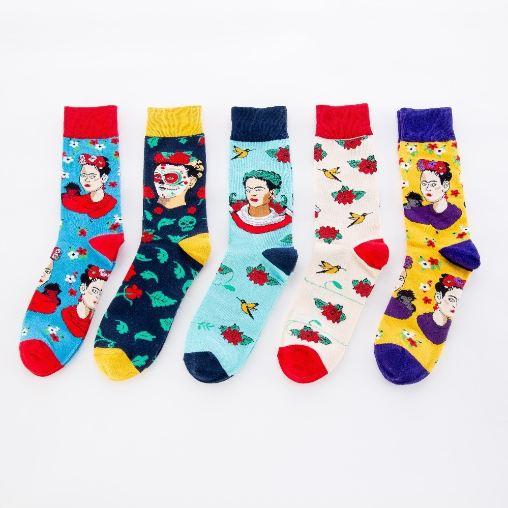 V-hanver Fashion Original Mens Socks Cotton Colorful Dress Happy Socks Novelty Animal Panda Patterned Harajuku Men Sock Gift Underwear & Sleepwears
