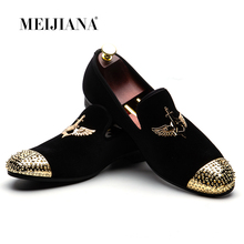 MEIJIANA 2018 Fashion Brand Men's Shoes 제 Leather 편안한 Men's Shoes Men's 로퍼 연회 Shoes(China)