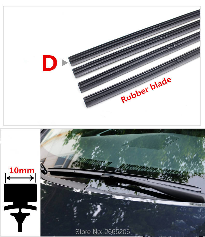 Free shipping car Windscreen Wipers Rubber strip Wiper Blade for Honda fit accord crv civic 2006-2012 jazz city hrv accessories (China)