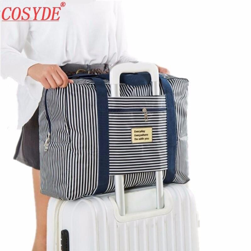 Travel Luggage Duffle Bag Lightweight Portable Handbag Black Birds Pattern Large Capacity Waterproof Foldable Storage Tote