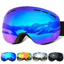1f19c379f611 VANREE Brand ski goggles double Lens UV400 anti-fog Skiing eyewear men  women mask snow