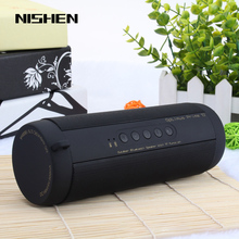 T2 Bluetooth Music Bass Speaker Waterproof Portable Outdoor LED Wireless Column Loudspeaker Support TF Card FM Radio Aux Input(China)