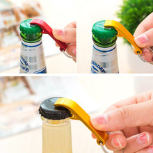 1pc Pocket Small Key Chain Ring Bar Claw Beverage Beer Bottle Opener Keychain Aluminum Alloy (Gold)(China)