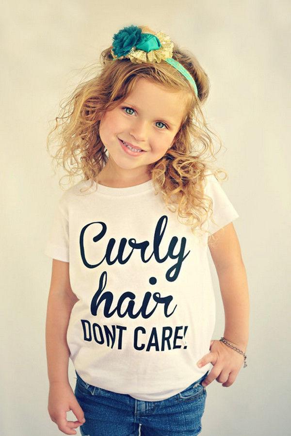 Toddler Kid Baby Girls Summer Cotton Loose Tops T-shirt Casual Blouse Shirts Tee
