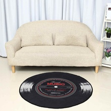 Chair Carpet-Rug Floor-Mat Record-Printed Living-Room Vinyl Round Kitchen-Decor Bedroom