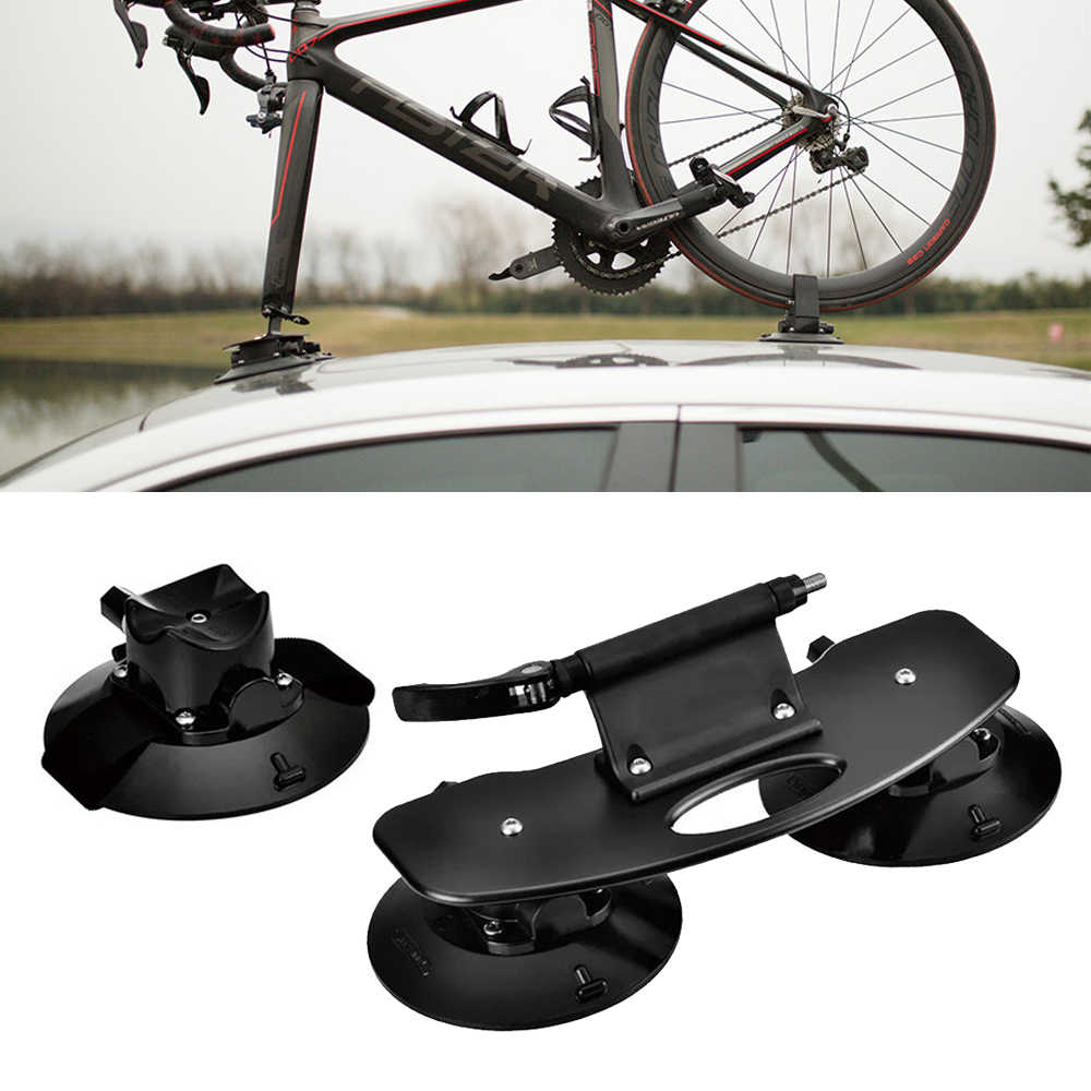 ROCKBROS Rooftop Bike Rack Car Roof Rack Rooftop Quick Release Aluminium Alloy Bicycle/Roof/Rack Suction Cup Car Roof Rack
