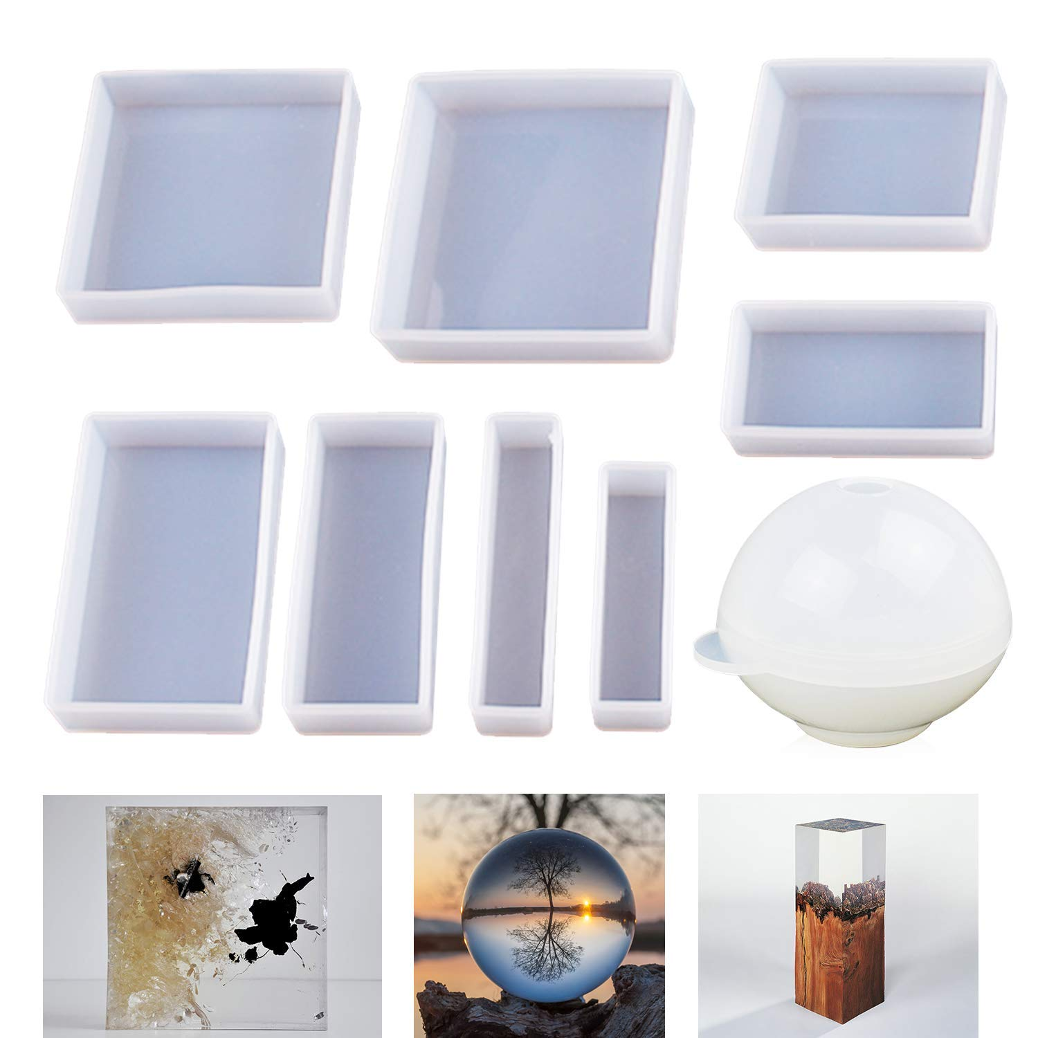 Art Resin Molds Square Concrete Mold for Coaster Photo Frame Craft Art Silicone Mould
