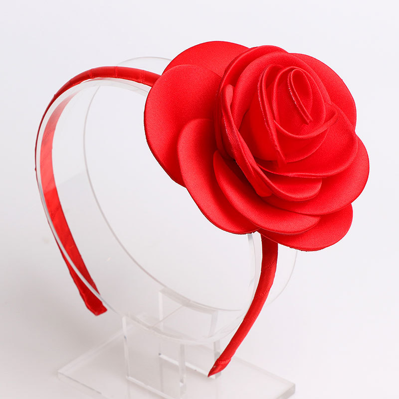 #70626 2019 New Flower Bezel Hair Bands 3D Rose Ha...