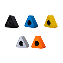 1 PC ABS Plastic Microphone Interview Triangular Logo Flag Station Black White Durable 38mm 5 Colors 2019 New(China)