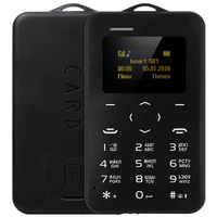 AIEK/AEKU C6 1.0 inch Pocket Card Phone Russian Keyboard GSM Bluetooth 2.0 Calendar Alarm