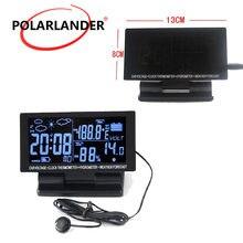 b8788f7bd83 4in1 multifuncional eletrônico Hygrothermograph 12 v DC Tela LCD Relógio  Digital Car Termômetro Higrômetro Tensão(