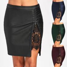 Zipper articoli spesa Fai in Promozione di Skirt promozione Leather SUMzpGLVq