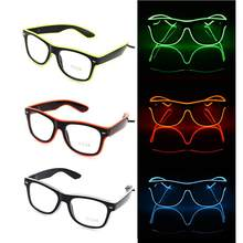Standard Luminous LED Glasses Fashion Neon Cold Light Glasses for Dancing  Party Bar Meeting Glow Rave Costume Party Atmosphere 769518748288