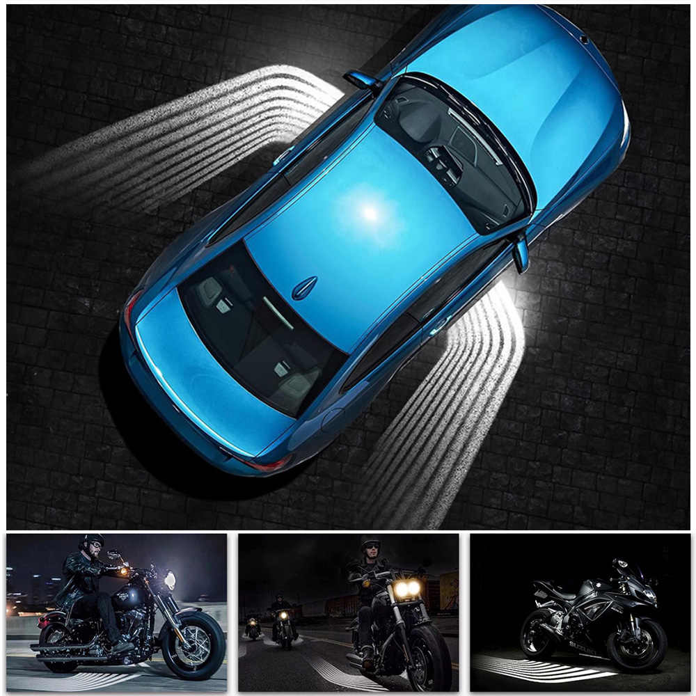 2X Car LED Angel Wing Light Car Door Lamp Shadow Projector Light Red MO