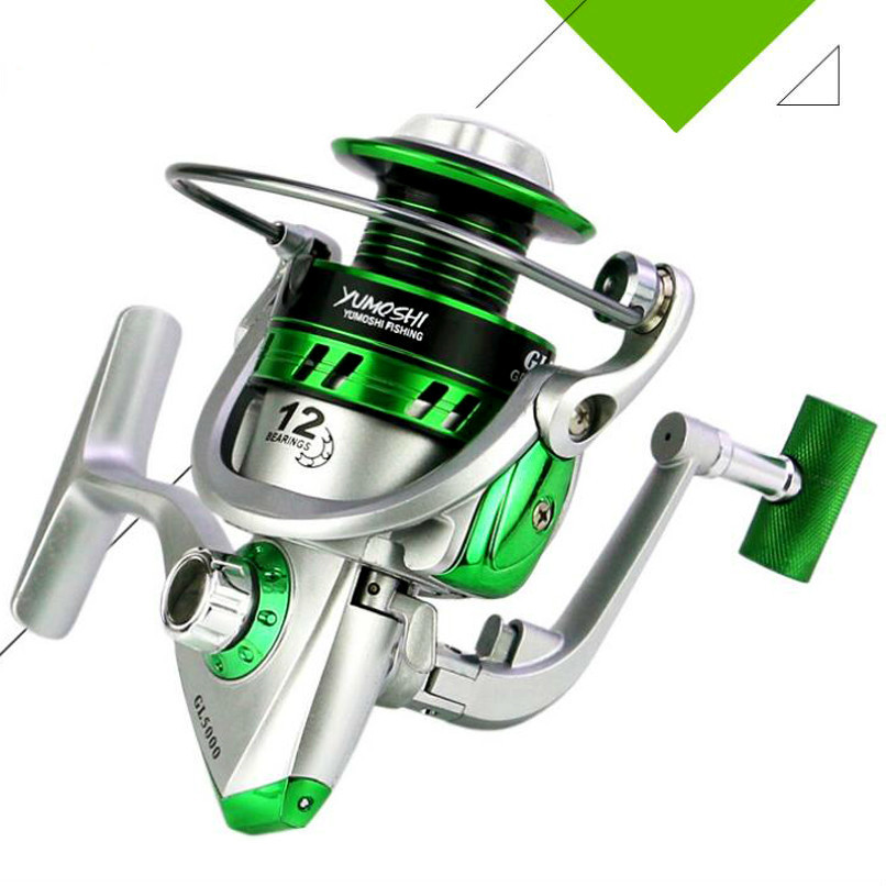 Reel-Gear Ball-Bearings Spool-Fishing-Tackle Spinning Saltwater Ratio Metal Right/left title=