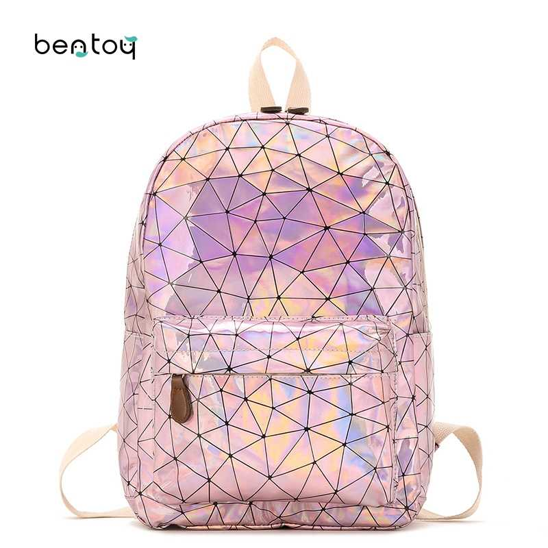 caa1823fa3 Korean Preppy Style Laser School Backpack Women Holographic All-match  Backpacks For Teenager Student Girls
