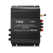 Lepy LP-269S Bluetooth Auto Versterker 2-Channel HiFi Stereo Audio Ondersteuning SD USB FM Afstandsbediening US PLUG(China)