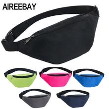 AIREEBAY Waist Bag Female Belt New Brand Fashion Waterproof Chest Handbag Unisex Fanny Pack Ladies Waist Pack Belly Bags Purse(China)