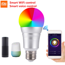 Xiaomi Creative Wireless Remote Control Smart WiFi Bulb Support Google Home / Amazon Echo Smart WiFi Control Smart Voice Control