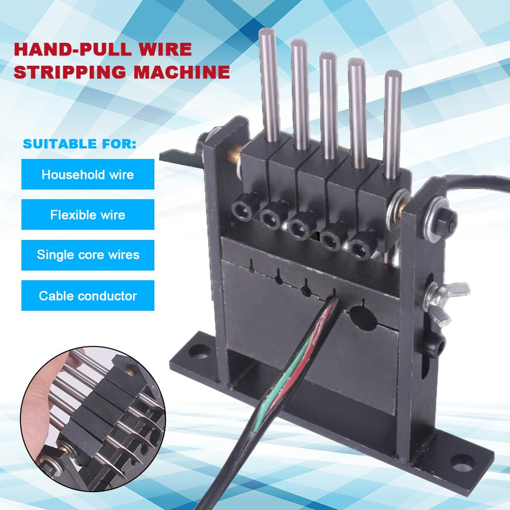 Portable Manual Electric Wire Stripping Machine Cable Stripper Metal Tool Kit
