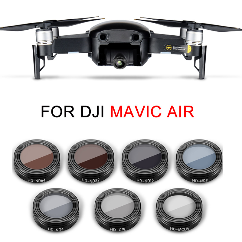 ND UV CPL Filter Mavic Air Filters Kit UV CPL ND4 ND8 ND16 ND32 Starlight HD Filter Portable Drone Gimbal Camera Lens Filters RC Aerial Camera 6in1 for Air