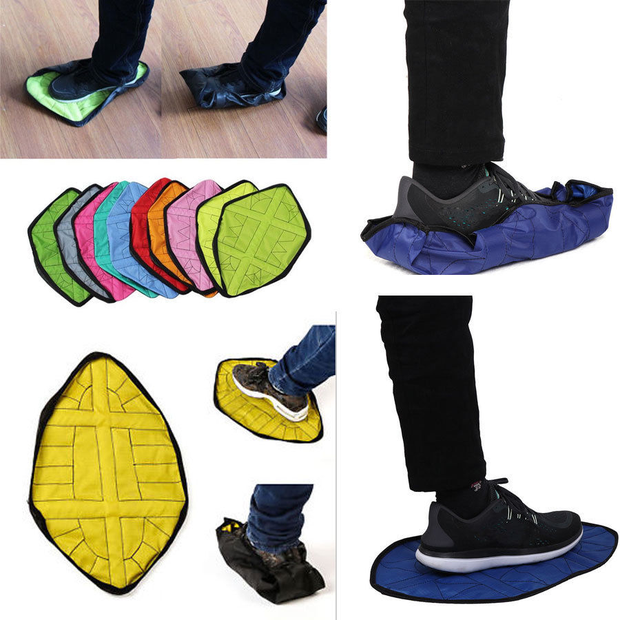 2pcs Step In Sock Hand Free Automatic Sock Portable Reusable Shoe Covers New