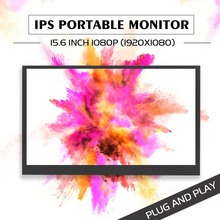 15.6 Inch HDR Portable Monitor 1920x1080P IPS LCD Screen Display LED Monitors with Type-C Cable for HDMI for XBOX One game Gifts