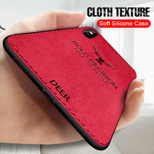 Luxury Christmas Deer Cloth Phone Cases For iphone 7 8 6 6s Plus Ultra Thin Soft Silicone Cover For iphone X Xs Max XR(China)