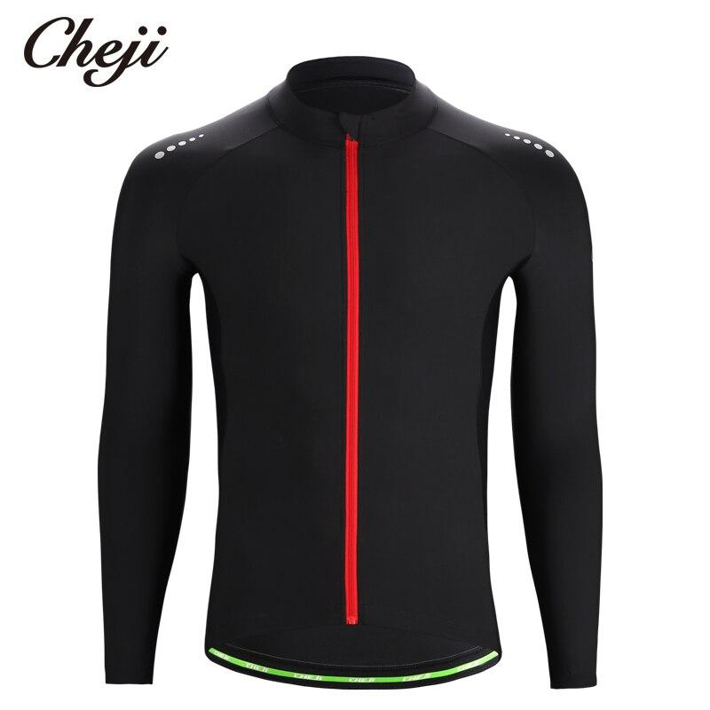 CHEJI 2019 Long Sleeves Men\'s Cycling Jersey Pure ...