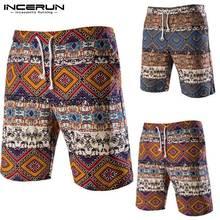 INCERUN Homens Bermuda Shorts 100% Shorts de Algodão de Praia Calções  Calções Homens Da Moda Roupas Soltas Corredores Esportivos. 32561a05b7b8f