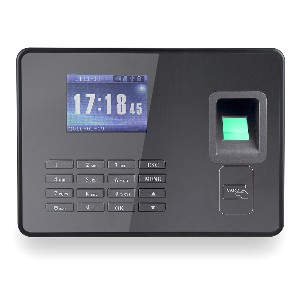 A8 Engineering Flagship Biometric Fingerprint Attendance Machine Employee Checking-in Recorder TCP/IP 2.8 inch LCD Screen DC 5V