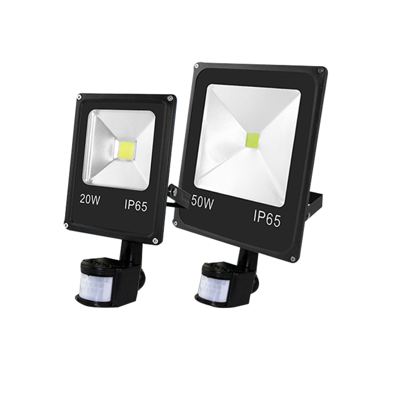 LED Floodlight 10W 20W 30W 50W 100W PIR Motion Sensor Outdoor Garden Lights IP65