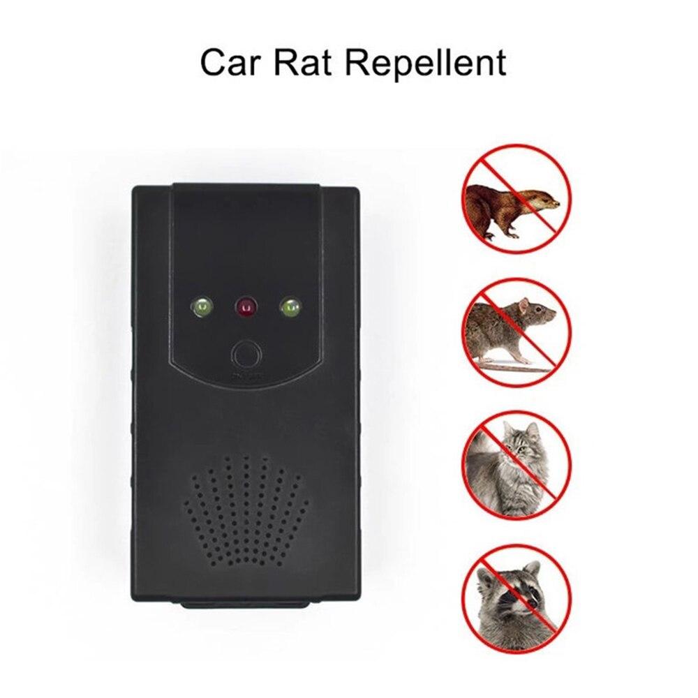 Car Ultrasonic Control Mouse Rodent Pest Animal Repeller Deterrent 12V