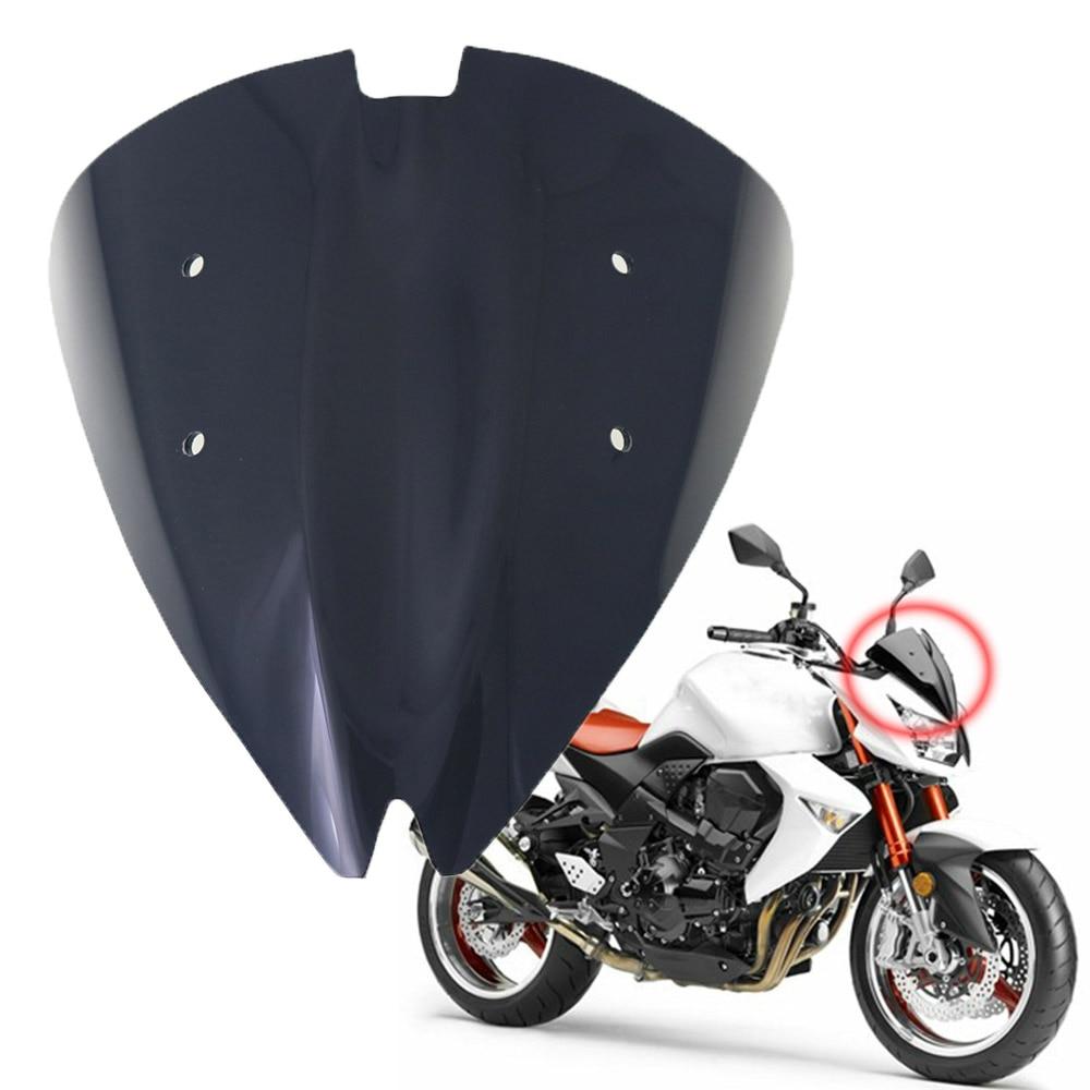 para el reemplazo de Kawasaki Z800 ZR800 2013-2015 Parabrisas Parabrisas Motocicleta Negro
