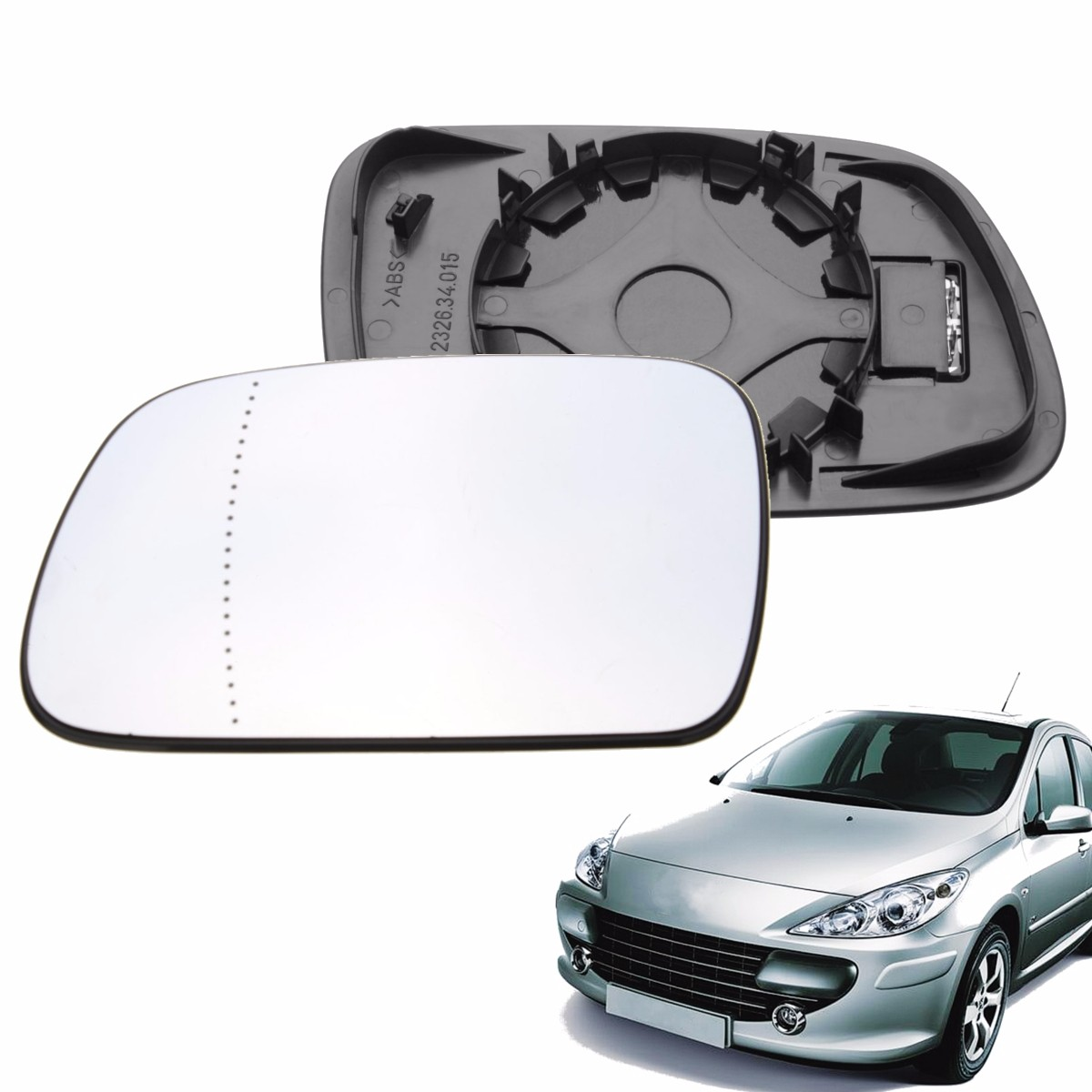 PEUGEOT 108  2014 HEATED LEFT WING MIRROR GLASS WIDE ANGLE ELECTRIC