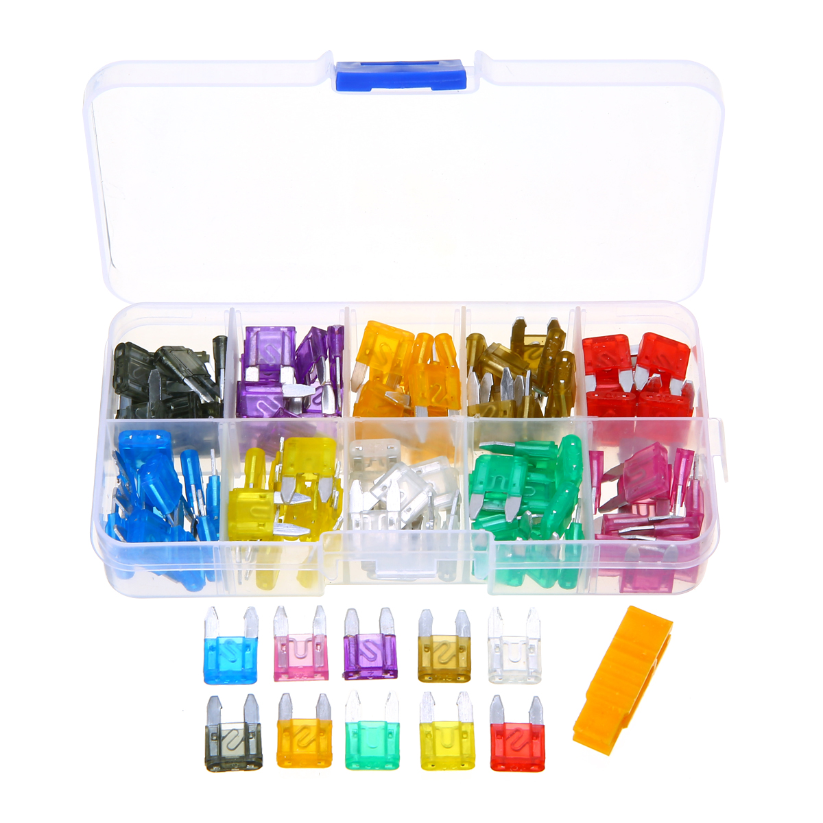 Assorted Car Low Profile Micro Mini Blade Fuse 5A 7.5A 10A 15A 20A 25A 30Amp Pack of 120