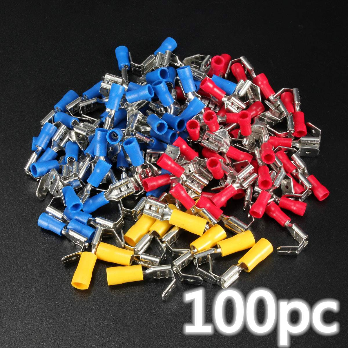 100 Pcs Electrical Male/&Female Insulated Wire Bullet Crimp Connector Terminal YW