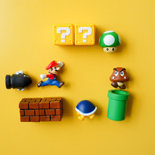 10 개 3D Super Mario Bros. 냉장고 자석 냉장고 Message 스티커 Funny Girls Boys Kids 어린이 학생 장난감 Birthday Gift(China)