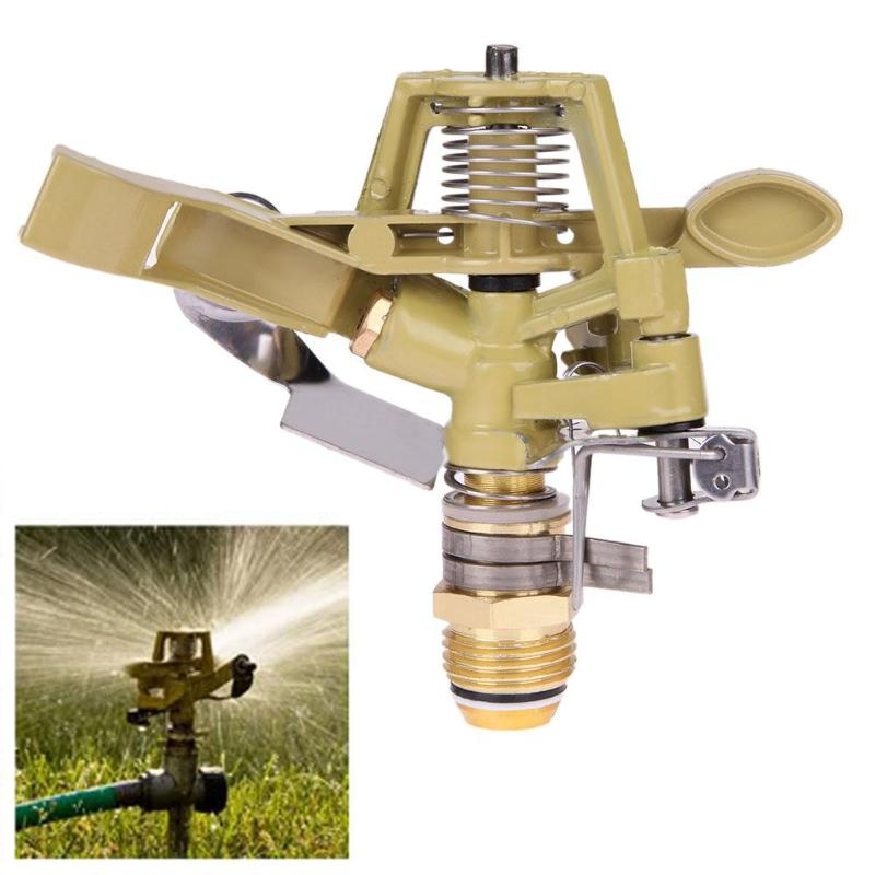 Nozzle-Fountain Sprinkler Irrigation Arm-Water Spray Rotate-Rocker Copper 1/2inch title=