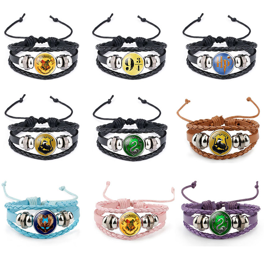Nice Cute Harri Potter Magic Spell Time Gem Badge Weave Beaded Leather Action Figure Bracelet Cosplay Toy Children Gift Selected Material Toys & Hobbies