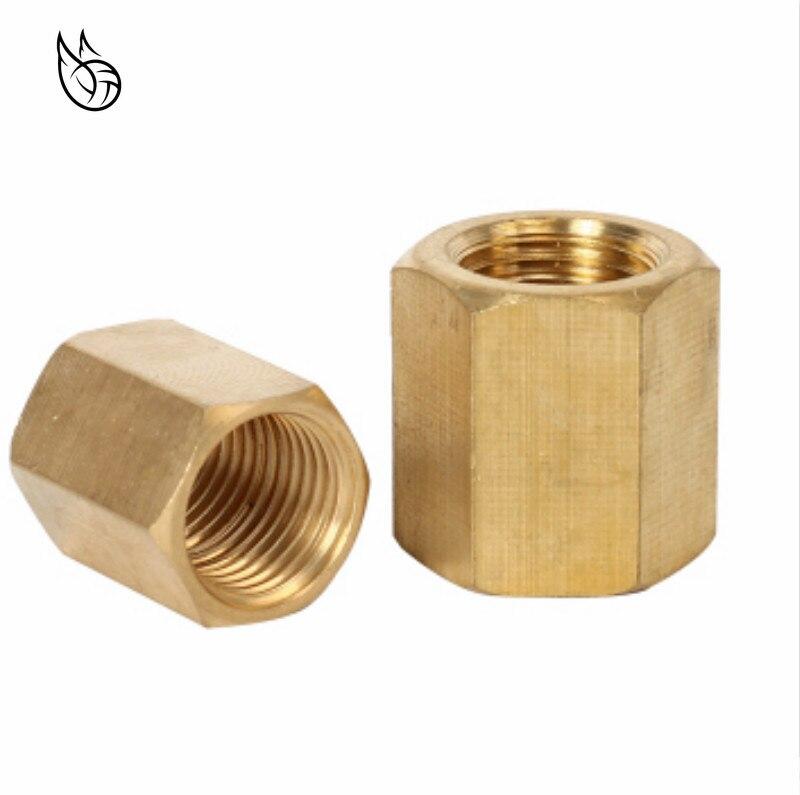 1//2BSP Female Thread Brass Hex Head Pipe Cap Cover Fitting 2pcs