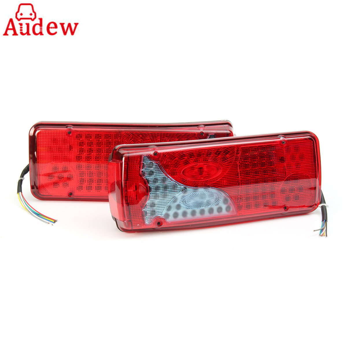 Car-Brake-Stop-Light Trailer-Truck Tail DAF SCANIA 24V for MAN Lorry TGX 1pair 120LED title=